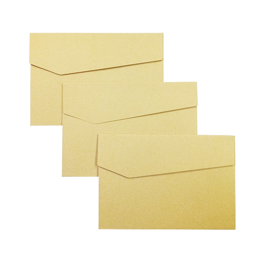 50Pcs/lot  New Vintage Kraft Paper Envelopes DIY Multifunction For Wedding Letter Invitations