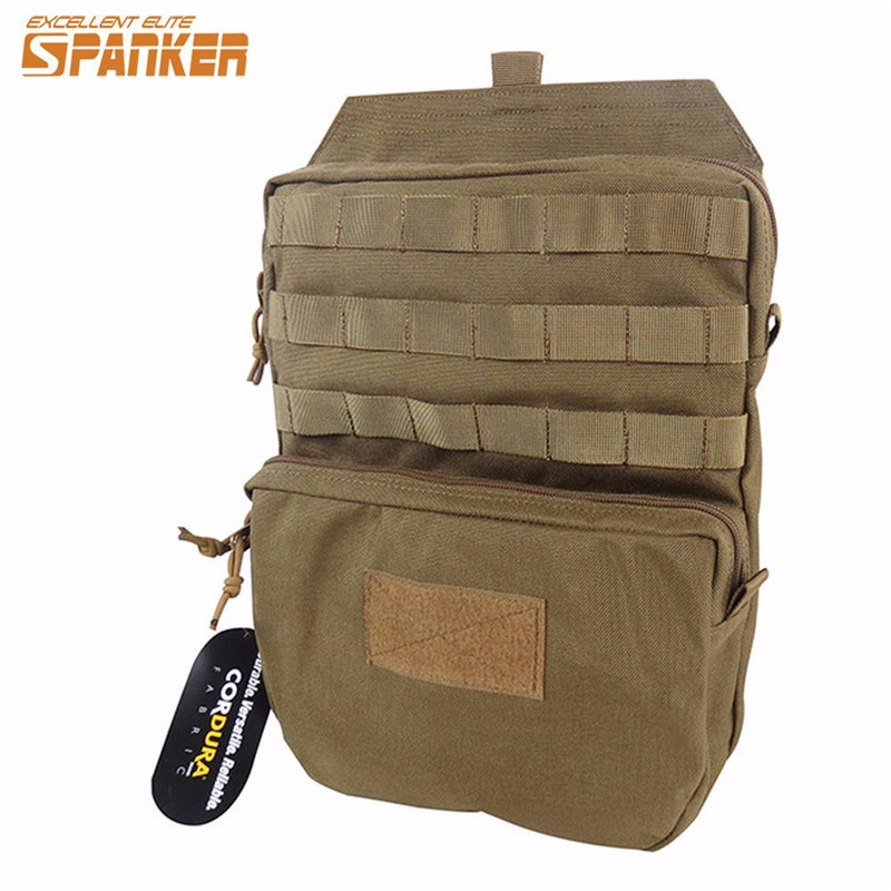 Spanker 1050D Nylon Tactical MOLLE Hydration Pouch 3L Water Pack Outdoor Hiking Mountaineering Quick Dry Hydration Backpack jinjuli nylon tactical pouch