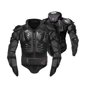 Image 2 - HEROBIKER pancerz motocyklowy ochrona kamizelka kuloodporna ochronny sprzęt Motocross Moto kurtka kurtki motocyklowe z ochraniacz szyi