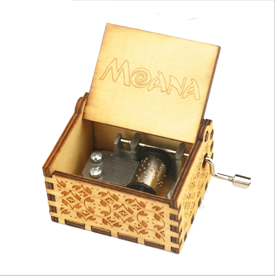 Hand Cranked Wood Music Box Castle In The Sky Star Wars Let It Go Wooden Music Box for Christmas Gifts in Music Boxes from Home Garden