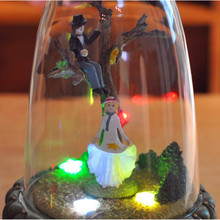 Zipi Luminous rotation Glass cover Music Box Clockwork Type 18 Tones Birthday Gift Christmas Gift Girlfriend romantic Gift