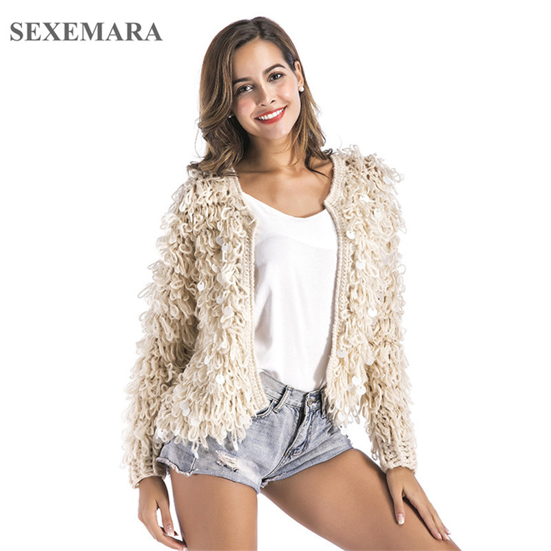 Aliexpress.com : Buy SEXEMARA 2017 winter fluffy sequin christmas ...