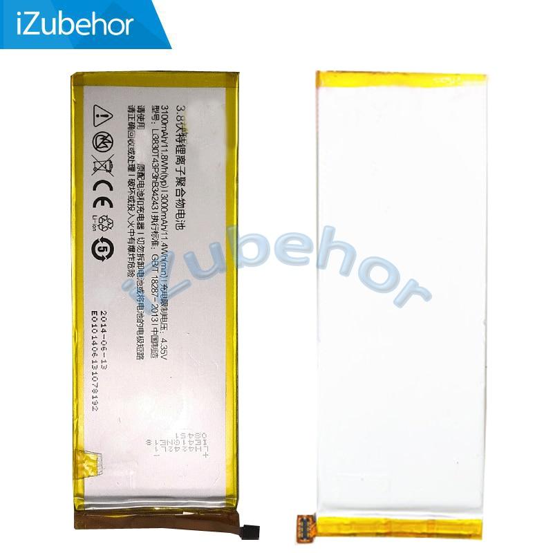 100% garantía 3100 mAh Li3830T43P3hB34243 para ZTE Nubia Z7MAX Z7 MAX NX505J por el envío libre; 100% de garantía