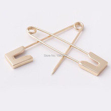5pcs/lot 68mm Light Gold Color Top Quality Safety Pins Brooch pins  For Earring Garment Decoration