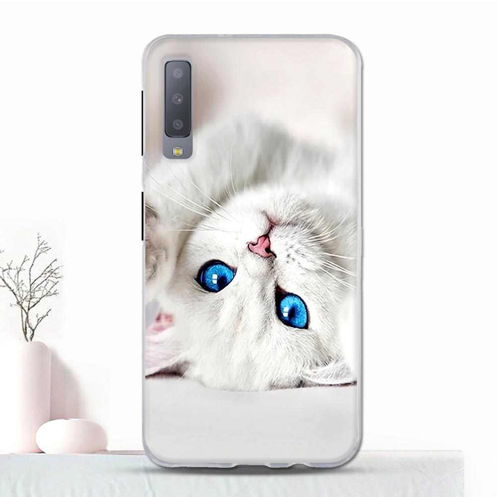 Tpu ケース A7 2018 ケース漫画サムスン A7 A750 Coque サムスンギャラクシー a7 A750F funda の Capa