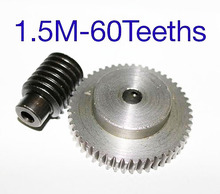 1Set  Freeshipping  1.5M-60T  reduction ratio:1:60  45Steel metal worm gear reducer transmission parts wore hole:10mm 1 5m 50t reduction ratio 1 50 45steel worm gear reducer transmission parts wore gear hole 10mm d 79 5mm rod hole 6mm
