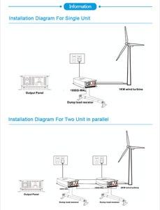 Image 5 - Invertitore del legame di griglia di energia eolica di 2000W 1000W con il regolatore/resistenza del carico dello scarico/del limitatore per il generatore eolico di 3 fasi 48v 60v