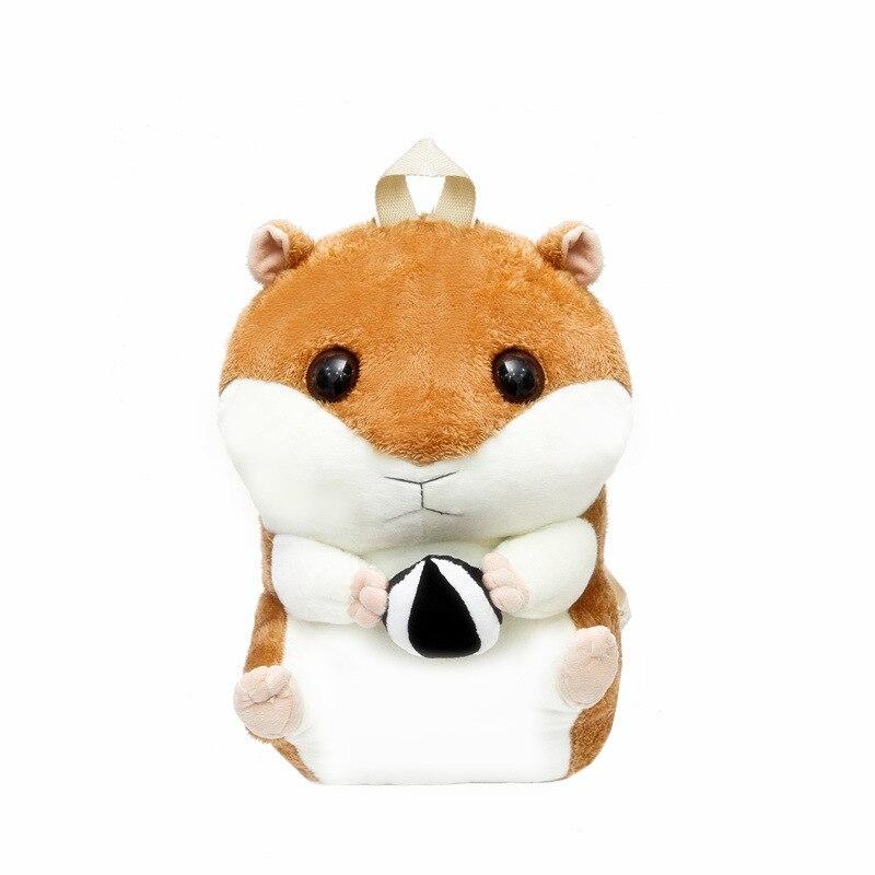 2018 Известный Дизайн хомяк рюкзак теплая рука сокровище плюшевые шаг в рюкзак личность моды милые подушки мультфильм сумки