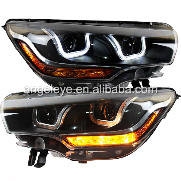 FOR CITROEN C4L LED Head Lamp with DRL Bi Xenon Projector Lens 2012 to 2014 year