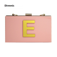 Chain Clutch Evening-Bag Pink Wallet Shoulder-Bag Elegant Woman Fashion Cute Luxury Brand