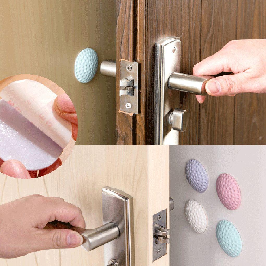 Door Handle Bumper Rubber Lock Crash Mat Pad Wall Protector Guard Door Stopper Newborn Care Lock Protection From Children