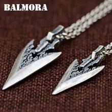 Подвески BALMORA из чистого серебра 925 пробы, 1 шт., для женщин и мужчин, для любителей винтажного дизайна, тайские серебряные украшения, аксессуары в подарок, SY14381