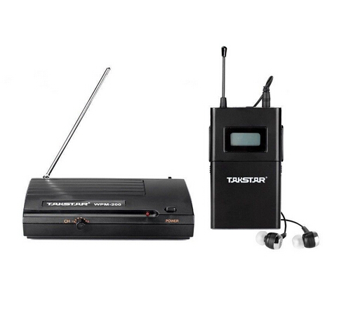 Original Takstar wpm-200 UHF Wireless Monitor System In-Ear Stereo Wireless Headset Transmitter&Receiver Stage monitors one set