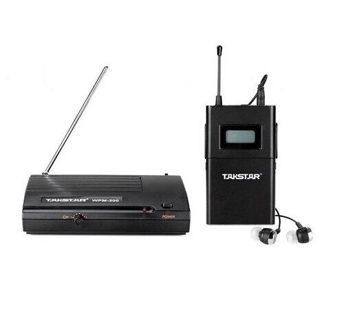 オリジナル Takstar wpm200 UHF ワイヤレスモニターシステムインイヤワイヤレスヘッドセットトランスミッター & レシーバーステージモニター 1 セット  グループ上の 家電製品 からの ヘッドホン/ヘッドセット の中 1