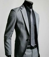 Grey Men S Wedding Dress Party Notch Lapel Form Suits Man Wedding Dress And Fashion Fabric