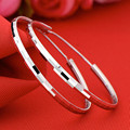 Big hoop earring for women 925 sterling silver 40mm luxury design good quality vintage wedding jewelry for Women SEH0007