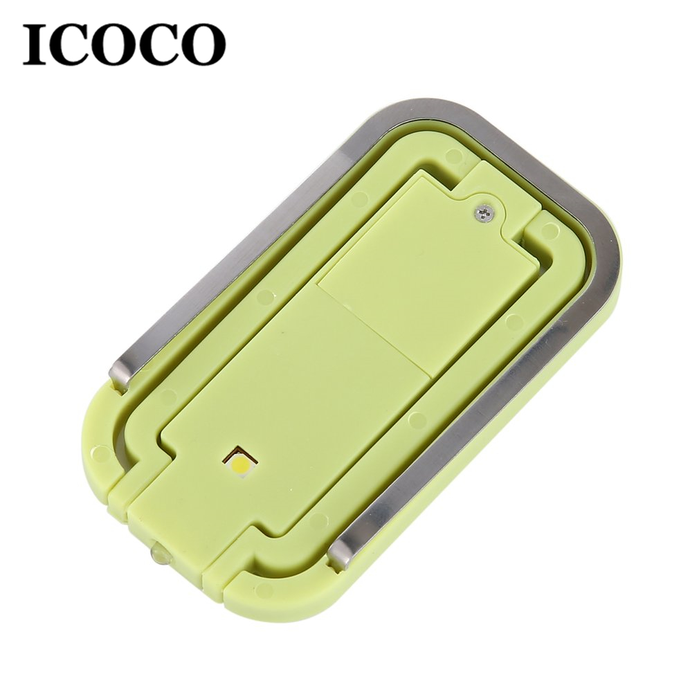 2018 New ICOCO 1pcs Portable Mini 2 LEDs Clip-on Book Light Battery Operated Night Light For Reading Drop Shipping Sale