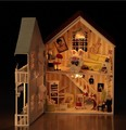 Diy Doll House Model Building Kits Miniature 3D Handmade Wooden Dollhouse Toy Christmas Bristday Creative Gift-House of Music