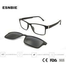 Ultem Plastic Titanium Square Eyeglasses Clip On Glasses Polarized Sunglasses Men Eyeglass Full Rim Nerd Eyewear Magnetic
