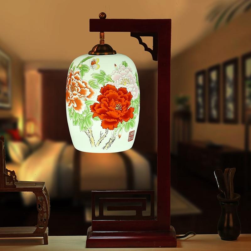 China living room vintage table lamp porcelain ceramic - Porcelain table lamps for living room ...