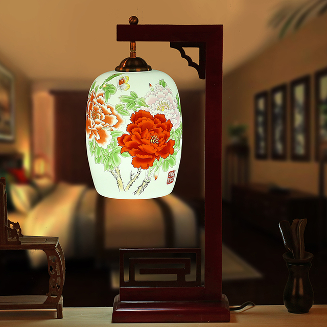 China living room vintage table lamp porcelain ceramic table lamp china living room vintage table lamp porcelain ceramic table lamp wedding decoration chinese table lamp antique aloadofball Image collections