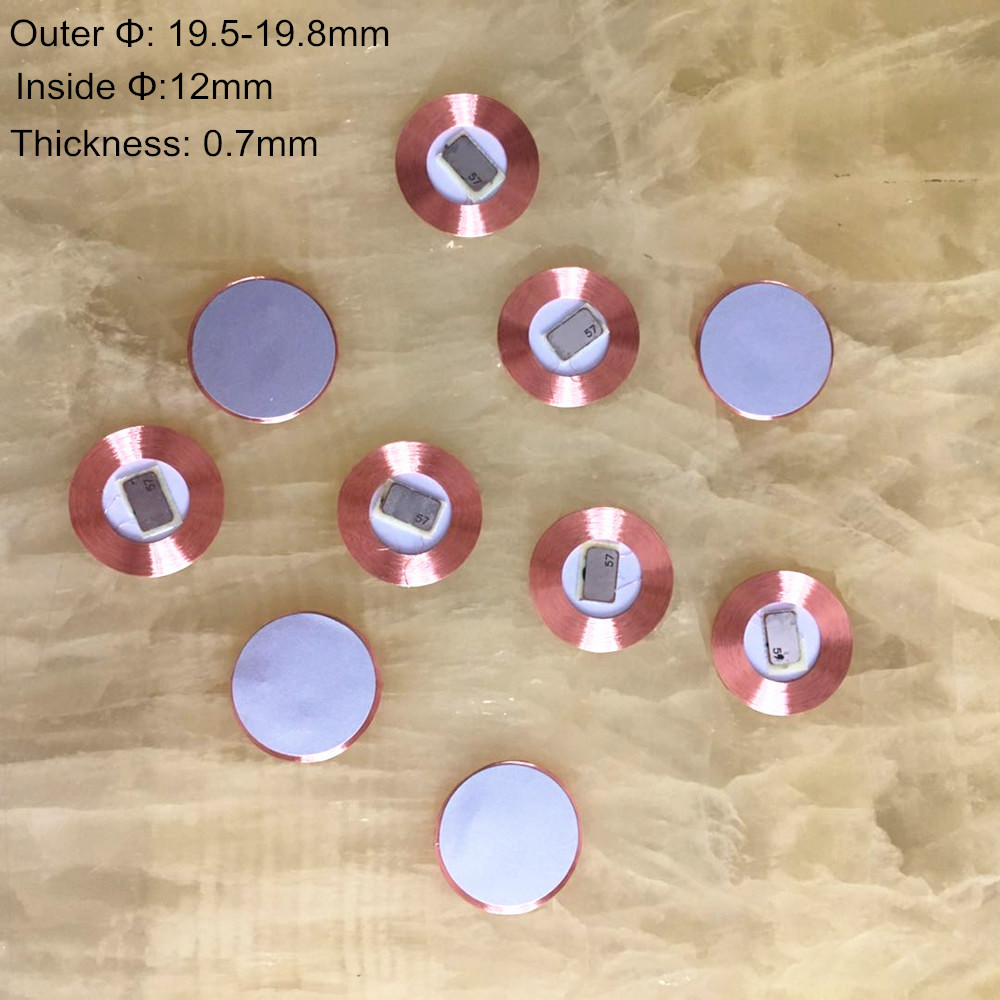 10pcs/lot 125Khz EM4100  RFID read only Coin tag T5577  19.5mm diameter coil chip ultra thin slim sticker EM writable 10pcs/lot 125Khz EM4100  RFID read only Coin tag T5577  19.5mm diameter coil chip ultra thin slim sticker EM writable