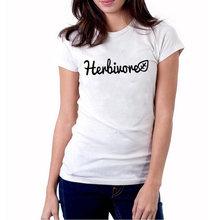 a4893fbc Herbivore T Shirt Plant Vegetables Hipster Women Vegetarian tshirt Harajuku  Funny Graphic Tee Shirt Summer 2018 Women Tops