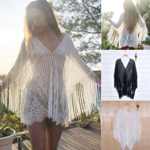 Womens Beach Dress Swimwear Lace Crochet Bikini Beachwear BathingSuit ...