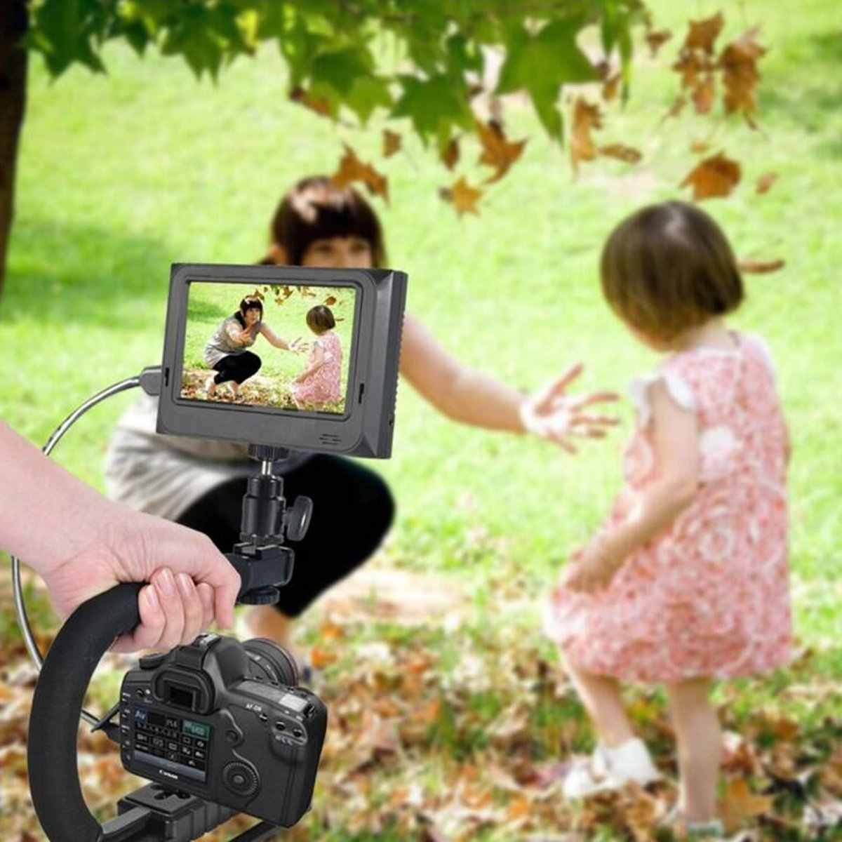 U-Rig Teléfono de mano estabilizador fotografía vídeo Rig película haciendo Vlogging grabación funda con soporte estabilizador para iPhone Samsung