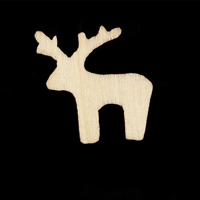 100pcs Natural wooden DIY Christmas tree Hanging Ornaments Pendant Gifts Tree Snow Flakes Table Bottle DTY Decoration7A0655