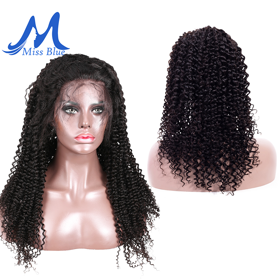 Missblue Mongolian Kinky Curly Human Hair Wig With Pre Plucked Hairline For Women Remy Lace Front Human Hair Wig With Baby Hair-in Human Hair Lace Wigs from Hair Extensions & Wigs    3