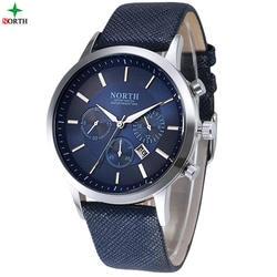 Для мужчин Часы модные наручные часы Северной 30 м Водонепроницаемый Нержавеющаясталь Повседневное мужской часы дизайн Военная Униформа