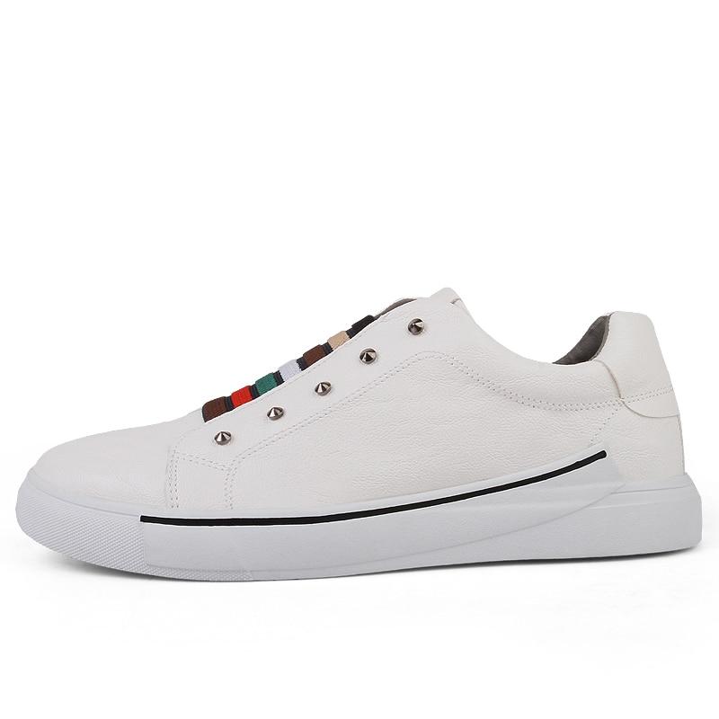 Hombres Holgazanes Pie Ligeros Los white Dedo Casuales Redondo Zapatos Del Cuero De gray Black Barco C5xRPBqww