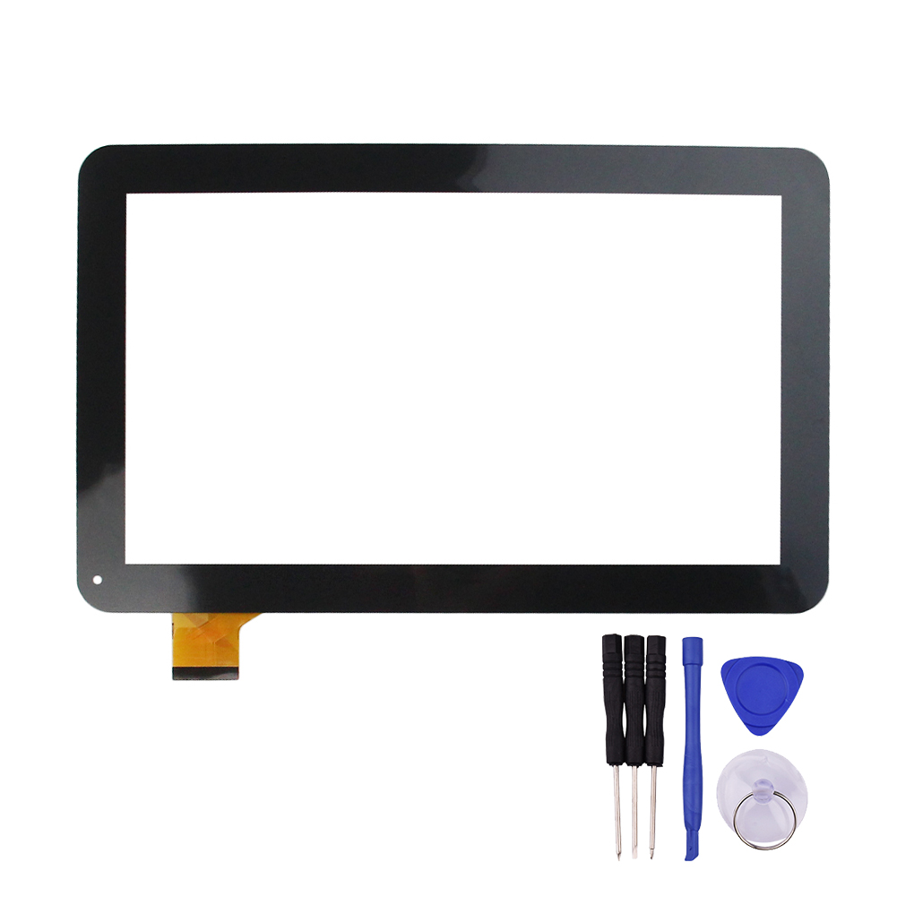 New 10.1 Inch Black Touch Screen for YCF0464-A YCF0464 Digitizer Glass Panel Replacement Free Shipping replacement touch screen digitizer glass for lg p970 black