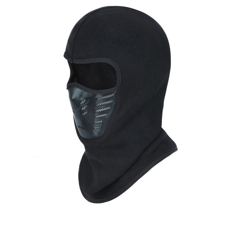 цены High Quality Winter Bicycle Windproof Motorcycle Face Mask Hat Neck Helmet Cap Sports Thermal Fleece Balaclava Hat For Men Women