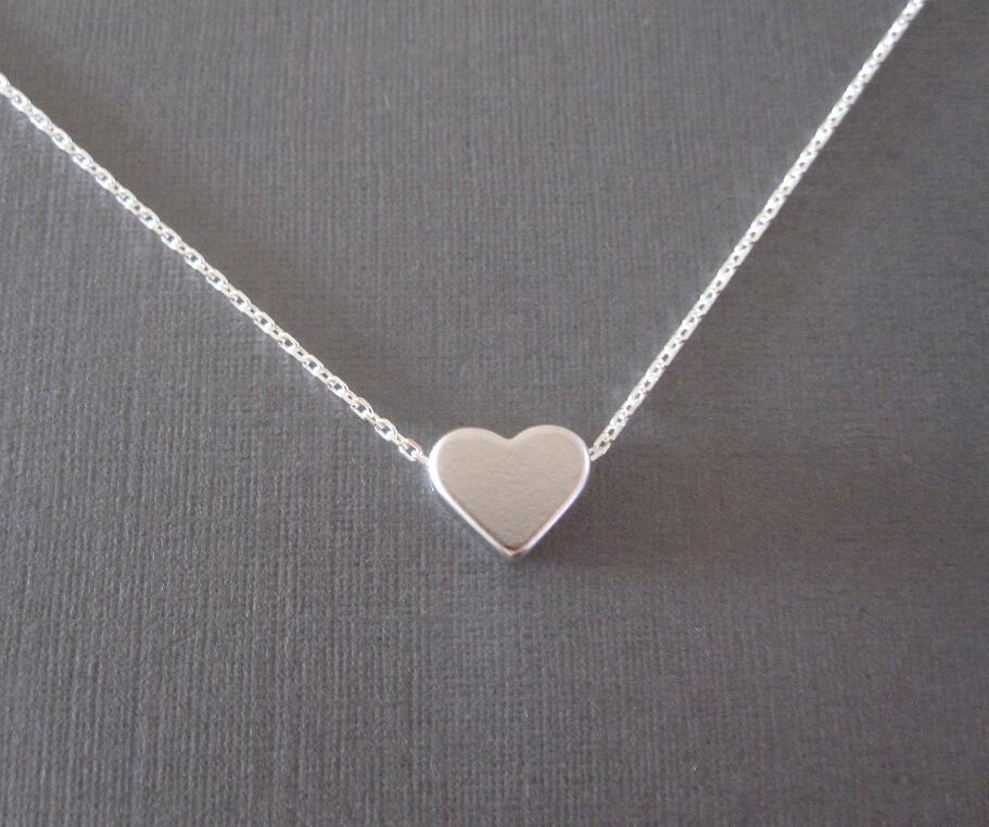 Jisensp New Tiny Heart Necklace Jewelry s