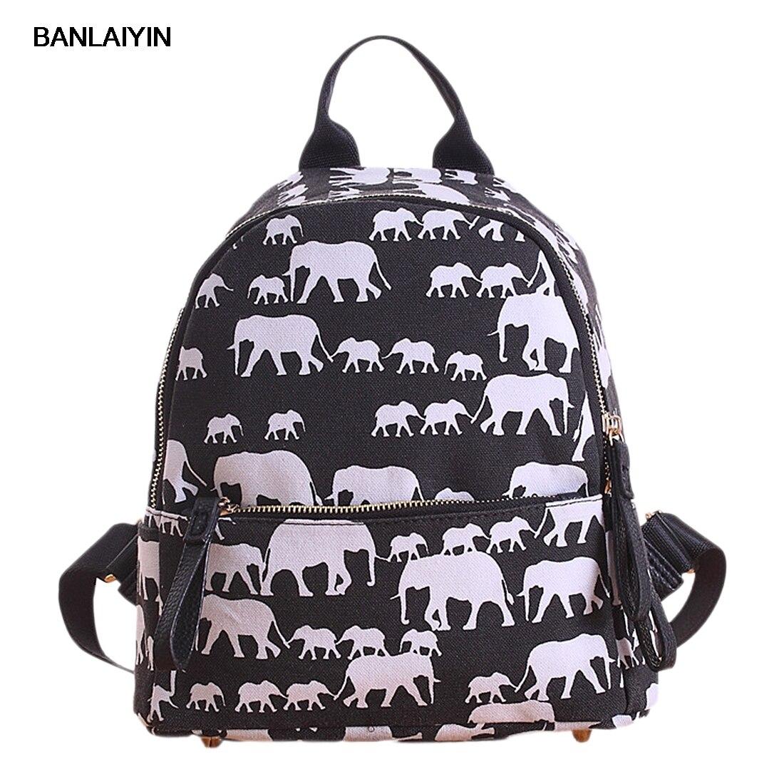 Vintage Women Canvas Travel Rucksack School Bag Satchel Backpack Shoulder Bag