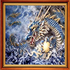 5D Diy Diamond Painting Cross Stitch Kits Diamond Embroidery Mysterious Dragon Pictures By Numbers Embroidery Ribbons