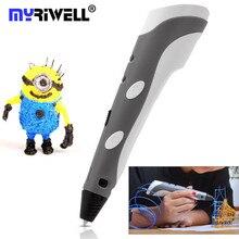 1.75 мм ABS/PLA Smart 3D Печать Ручка 3D Ручка DIY Перо Для Рисования + Свободной Нити + Адаптер Творческий Подарок для Детей Рисунок Живопись