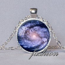 GALAXY PENDANT Blue and Pink M100 Galaxy Necklace Astronomy Necklace Geek Star Trek Sci Fi Jewelry Science Necklace