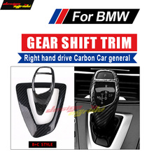 E90 E91 E92 E93 Gear Shift For BMW F30 F35 Gear Shift Right hand drive Carbon Fiber Gear Shift Knob Cover trim B+C Style for bmw lhd carbon fiber auto door handle knob exterior trim covers for bmw 1 3 4 series e90 e92 e93 f30 f35 2005 15 sticker