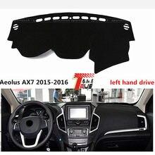 Movimentação da mão ESQUERDA para Funshion TAIJS Aeolus AX7 2015-2016 protetor solar PAD ESTEIRA do painel do carro para Funshion