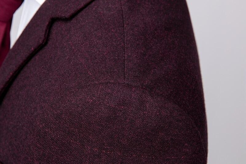 Fit Gilet Slim 2018 Mode Bourgogne Le Kuson Mariage Treillis Ensemble De  Formelle Hommes Pcs Pour Imprimé bourgogne Costume 3 Pantalon Costumes Bal  veste ... 207560fc698