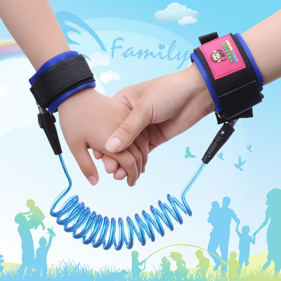 1.5M Anti-lost rope protective safety supplies anti-lost children stretch bracelet Protection of children watch Baby TXB18