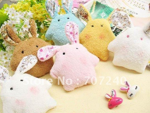 Promotion Gift  mobile phone Pendant MP3/4 Straps (Cute Hand Made Rabbit Series) Free Shipping