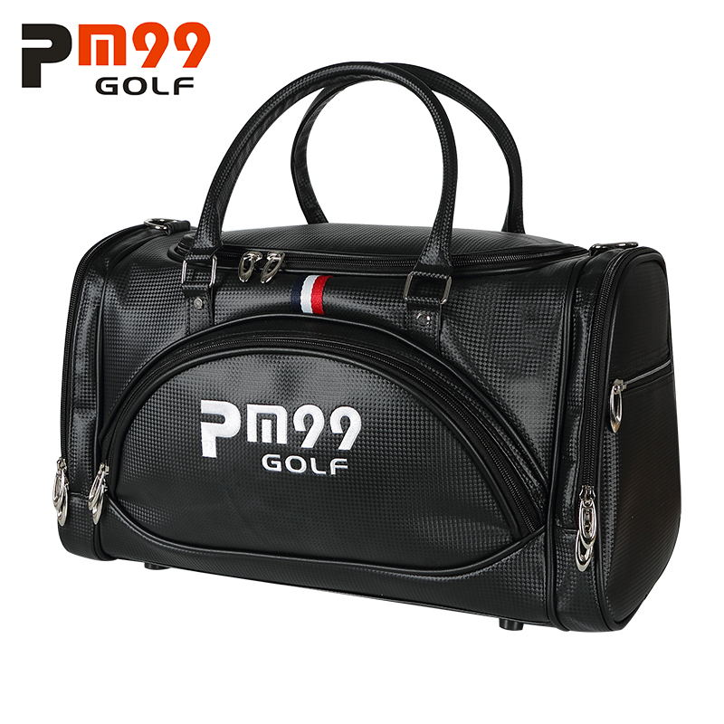 Golf Clothing Bag Travel Golf Bag PU Leather High Capacity Double Layer Golf Shoes Bag 2018 new free shipping hot sale 2017 pencil golf bag men double thickening cotton travel bag for golf clubs with wheels large capacity storage golfbag