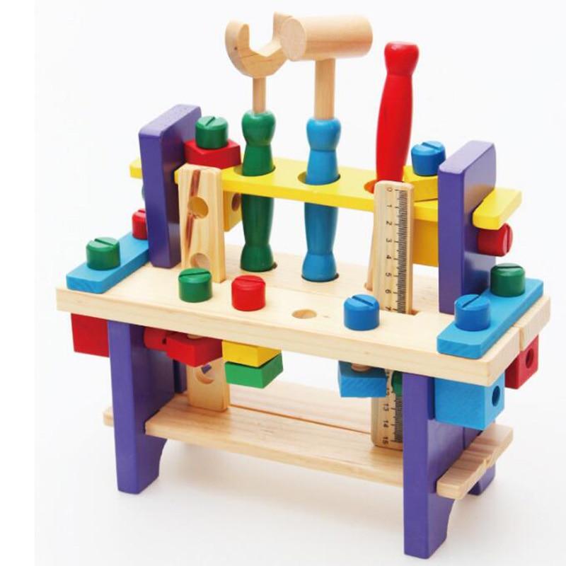 Enfant en bois puzzle mains sur démontage vis écrou combinaison apprentissage éducation jouets multifonctions outils ensembles créatif joie
