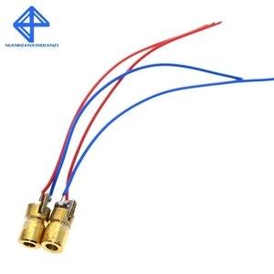 Image 4 - 10 pces 5 v 650nm 5 mw ajustável laser dot módulo de diodo visão vermelha cabeça cobre mini ponteiro laser