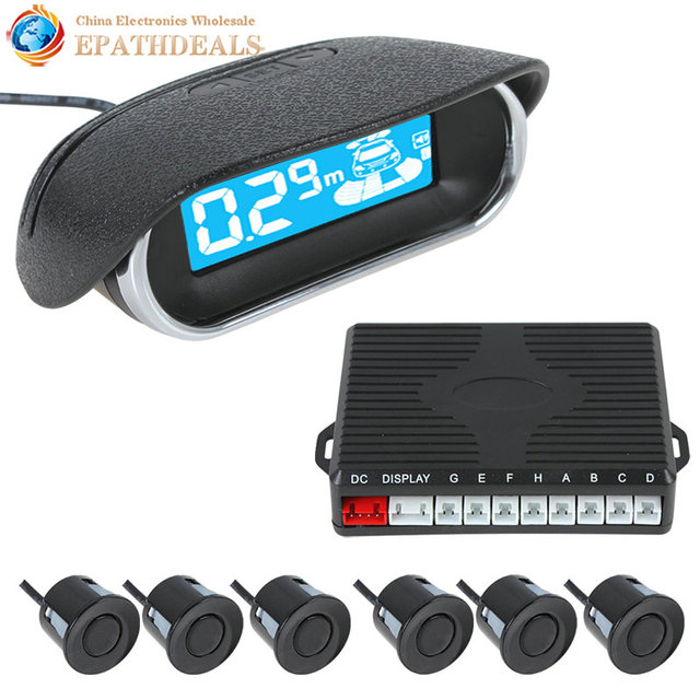 US $41 22 37% OFF|Digital Display Auto Car Parking Sensor System Front &  Rear Obstacle Distance Dual View with 6 Ultrasonic Reverse Backup Sensors  on