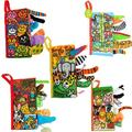 Baby Toys Infant Kids Early Development Cloth Books Learning Education Unfolding Activity Books Animal Tails Style 9 Patterns